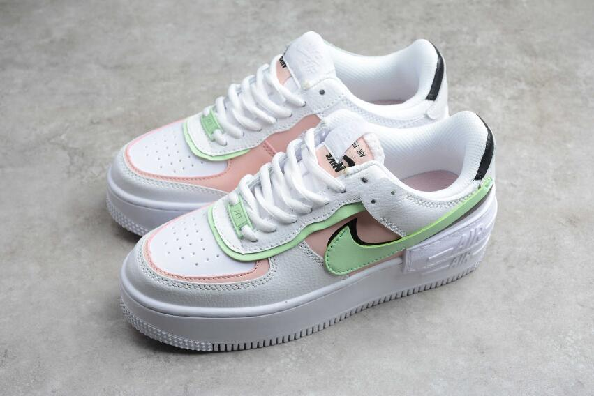 2020 Nike Air Force 1 Shadow White Pink Green Ci0919 130 The New Nike Air Force 1 Shoes 4.7 out of 5 stars 398. 2020 nike air force 1 shadow white pink