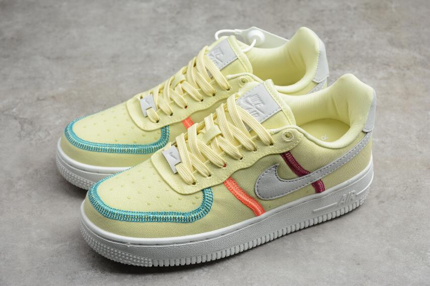 Girls Nike WMNS Air Force 1 07 Life Lime White Yellow CK6527-700 ...